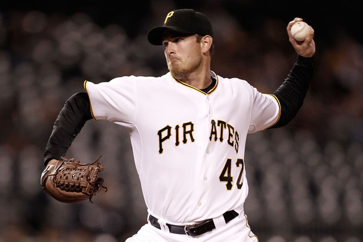PITTSBURGH - APRIL 16:  PITTSBURGH, PA- APRIL 16: Zach Duke #57 of the Pittsburgh Pirates pitches against the Cincinatti Reds during the game on April 16, 2010 at PNC Park in Pittsburgh, Pennsylvania.  (Photo by Jared Wickerham/Getty Images)