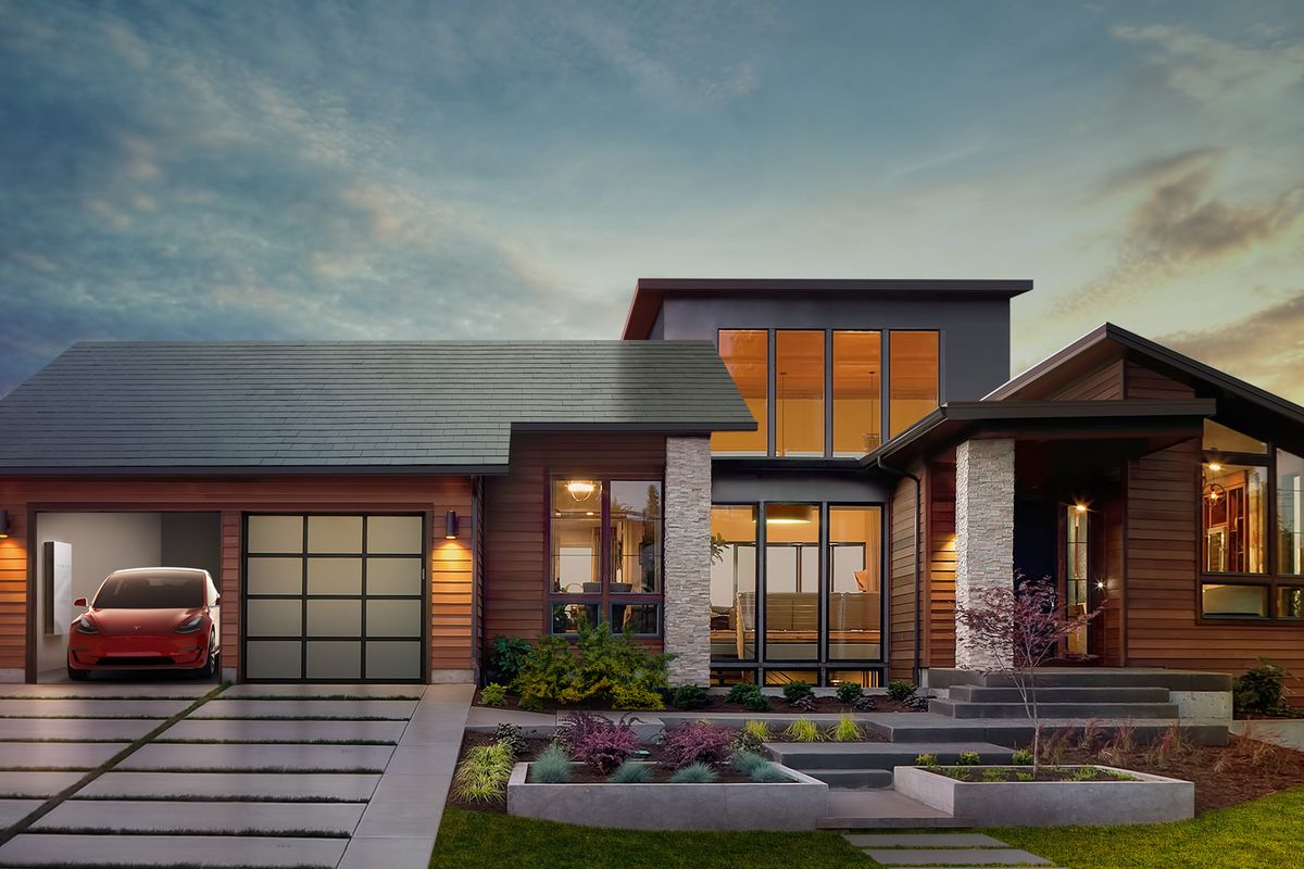 Tesla motors ceo elon musk battery to power home is only 6 - Tesla Will Build And Sell Its Own Line Of Solar Panels To Combine With Its Battery Storage System The Company Announced At A Press Event At Universal