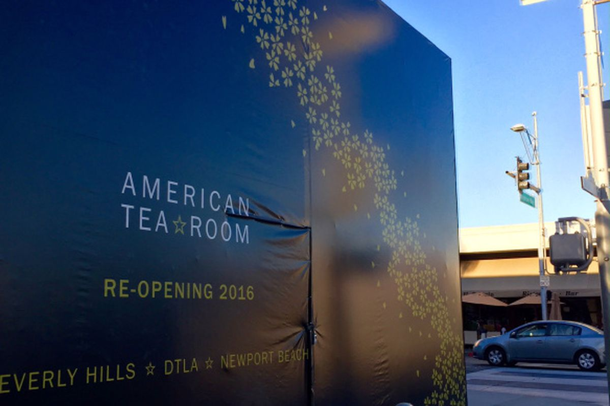 American Tea Room Shutters Beverly Hills Location For