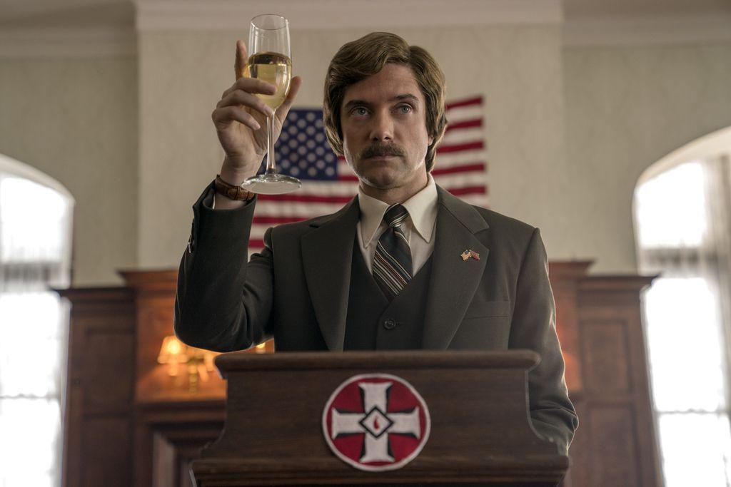 "Topher Grace stars as David Duke in Spike Lee's ""BlacKkKlansman.""   Focus Features"