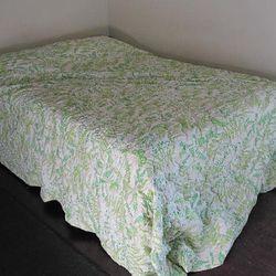 "Vera Neumann for Burlington quilted bedspread, <a href=""http://www.etsy.com/listing/88538083/vintage-quilted-butterfly-bedspread?ref=&sref="">$45</a>."