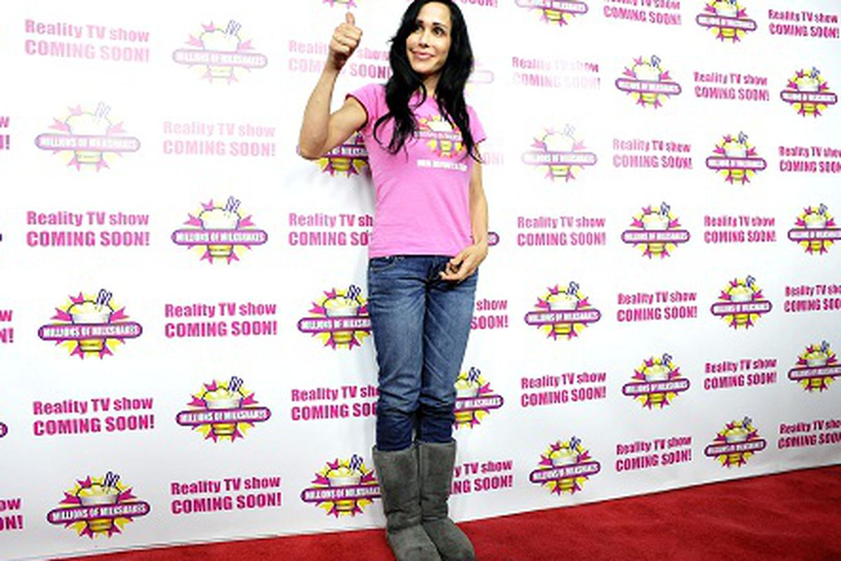 Yes, that's Octomom wearing Uggs, via Getty