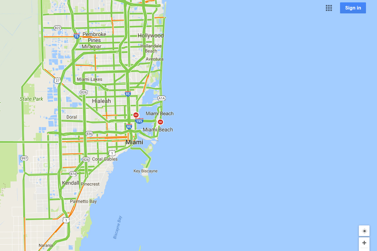 Google Maps Will Mark Closed Roads Live As Hurricane Irma Hits - Florida map