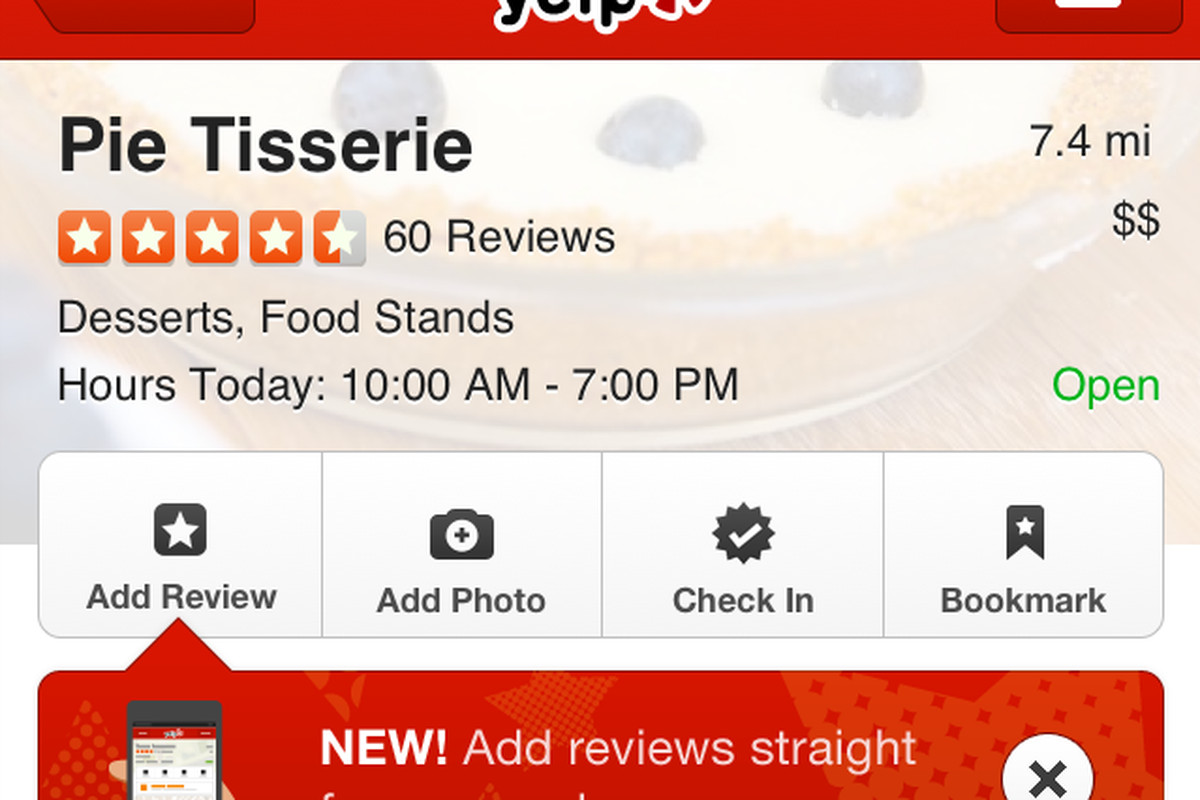 Yelp finally adds option to write reviews from iPhone app - The Verge