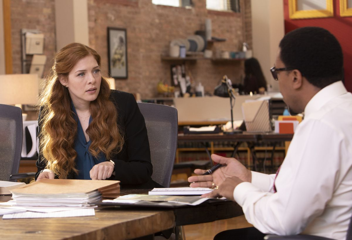 """Once wrongly convicted of murder, Madeline (Rachelle Lefevre) gained her freedom, went to Yale Law and now works with the lawyer (Russell Hornsby) who helped overturn her conviction on """"Proven Innocent.""""   Fox"""