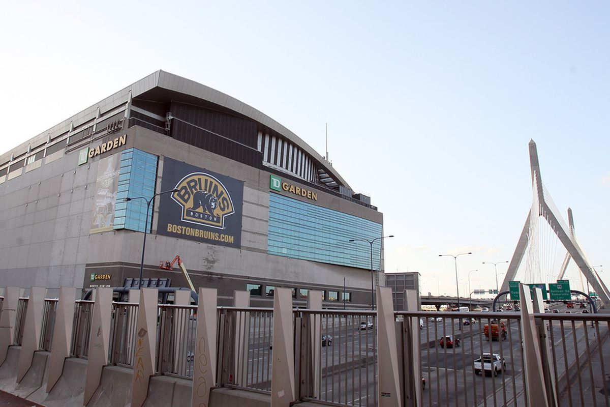 BOSTON, MA - OCTOBER 20:  The outside of the TD Garden before the Boston Bruins take on the Toronto Maple Leafs on October 20, 2011 in Boston, Massachusetts.  (Photo by Elsa/Getty Images)