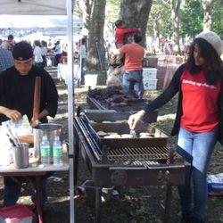 The Palo Santo team making carnitas
