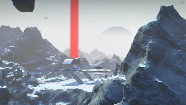No Man's Sky (at six months) wintry planet base