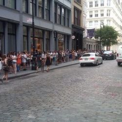 The scene at the Alexander Wang sale in August