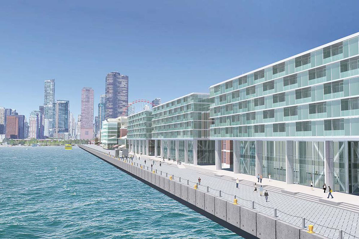 Navy pier s new hotel is officially a go curbed chicago for New hotels in chicago