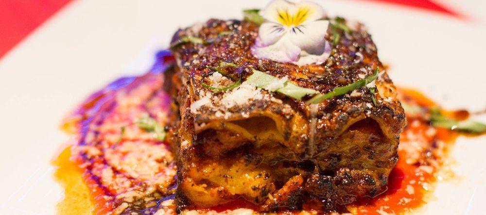 Plantain lasagna at Francisca's