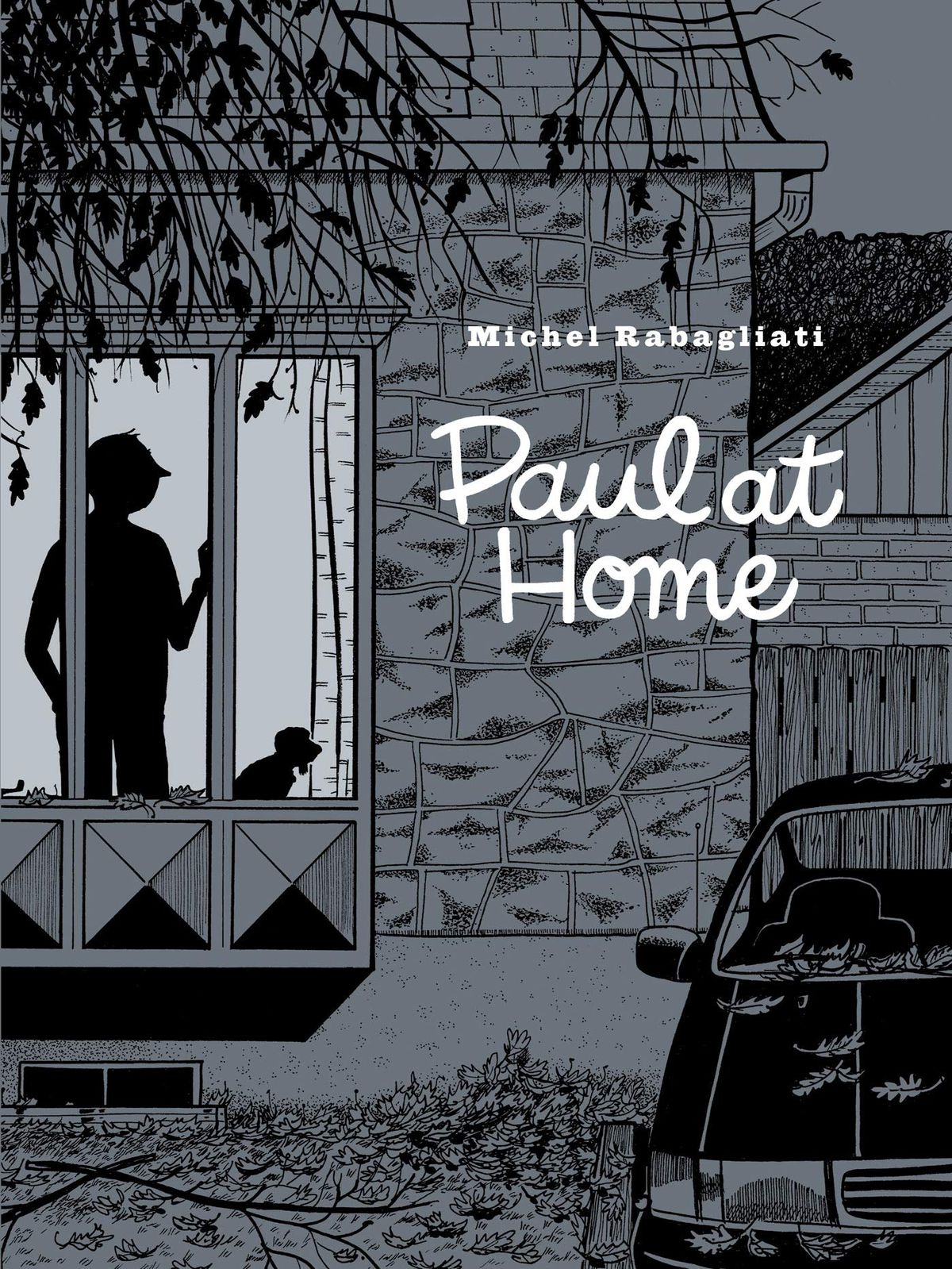 Paul stands silhouetted in the window of his home on the cover of Paul at Home (2020).