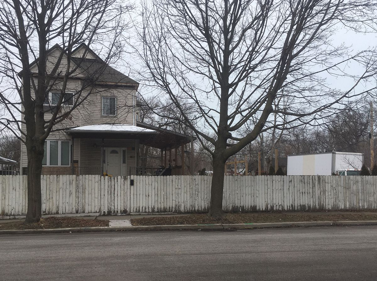 Authorities found a dead horse at this house in Englewood on Saturday.