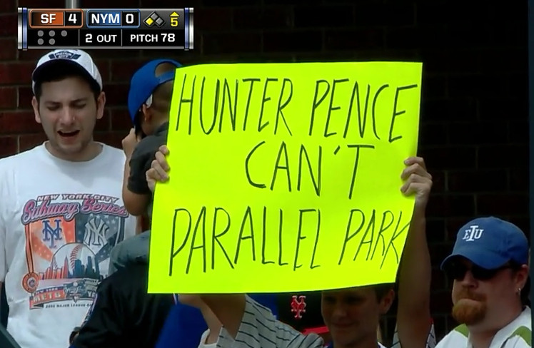 Hunter Pence Can't Parallel Park