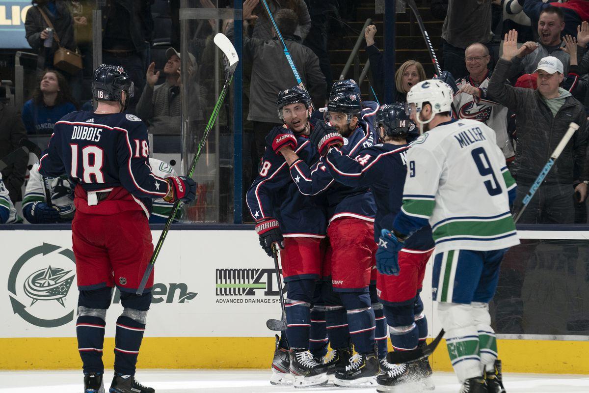 NHL: MAR 01 Canucks at Blue Jackets