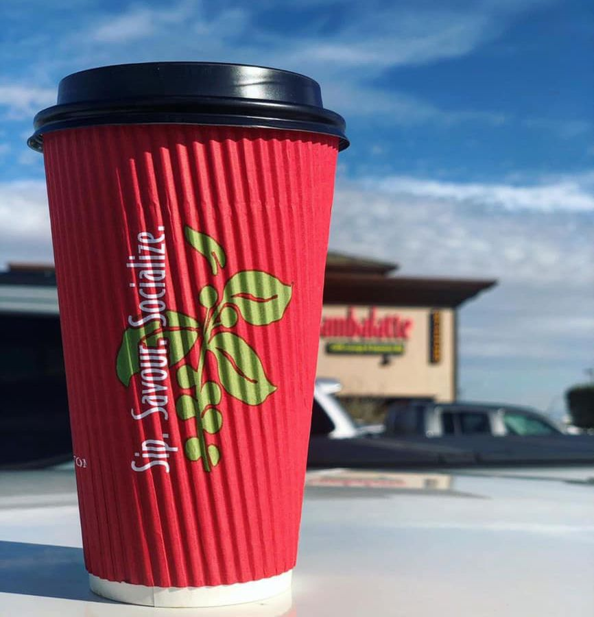 Local favorite Sambalatte keeps its drive thru open daily in the southwest.