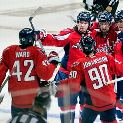 Capitals Celebrate a Power Play Goal