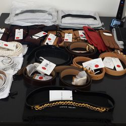 Belts starting at $46, plus a couple of MM6 clutches for $70.