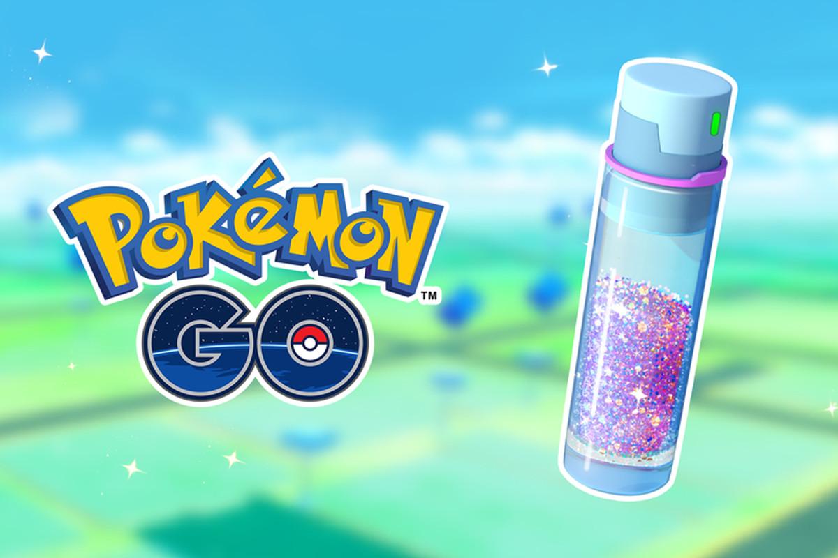 A vial of Stardust with the Pokémon Go logo
