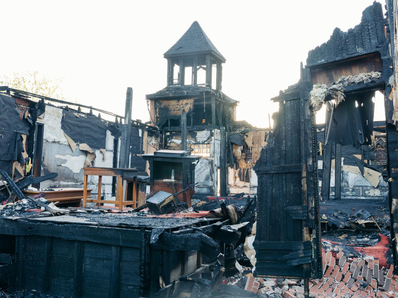 Mount Pleasant Baptist Church was one of three historically black churches burned down over a 10-day period in Louisiana. The man accused of setting fire to the church now faces state and federal hate crimes charges.