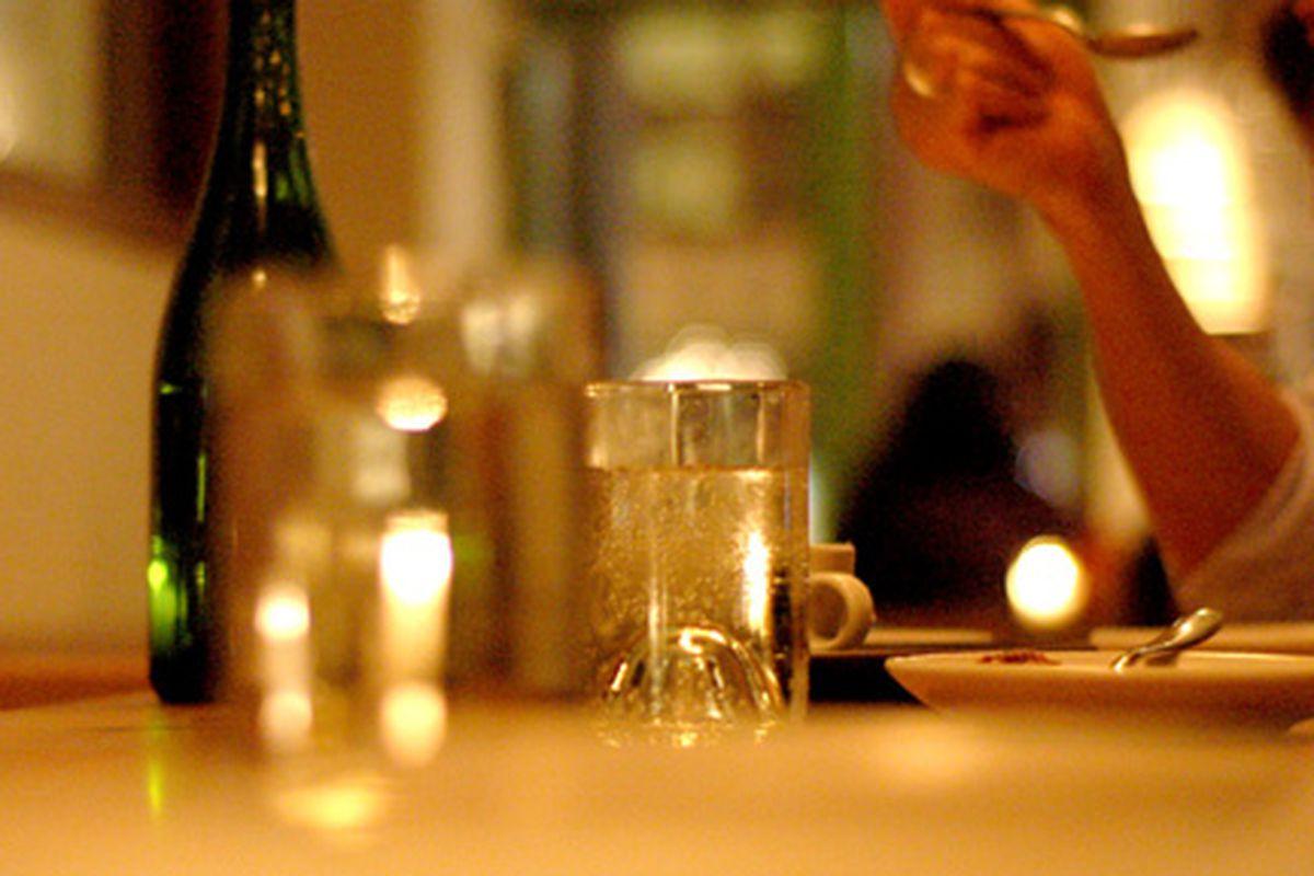 Looking down the bar one evening at Contigo.