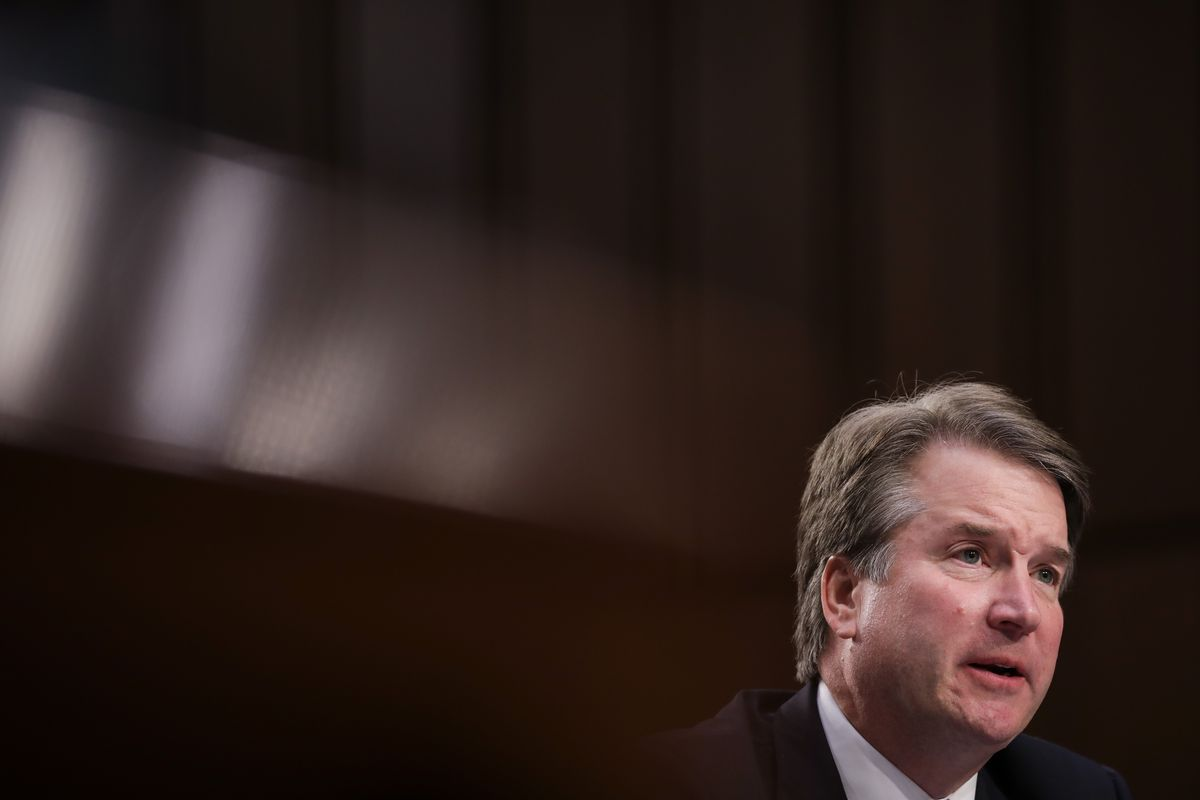 Supreme Court nominee Judge Brett Kavanaugh, who has been accused of sexual assault by Christine Blasey Ford