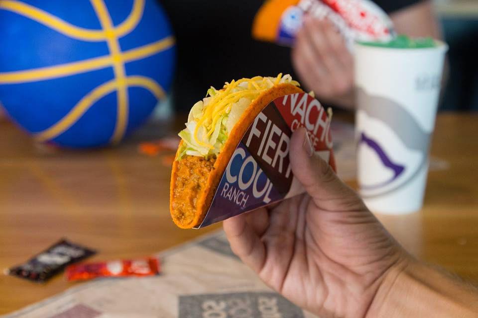 A Doritos Locos taco from Taco Bell
