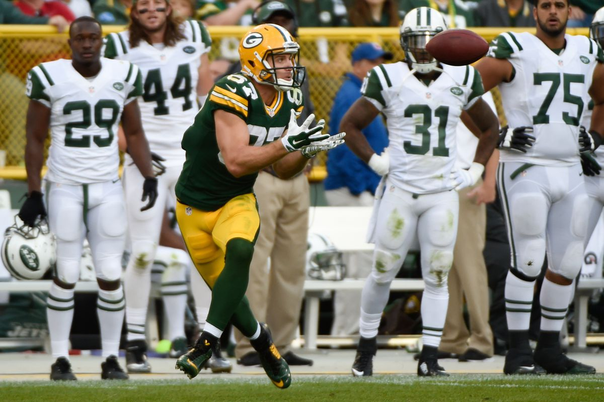 Jordy Nelson had a career day Sunday, highlighted by this 80-yard touchdown catch to win the game. And, most important, he helped me to crush my fantasy football opponent.
