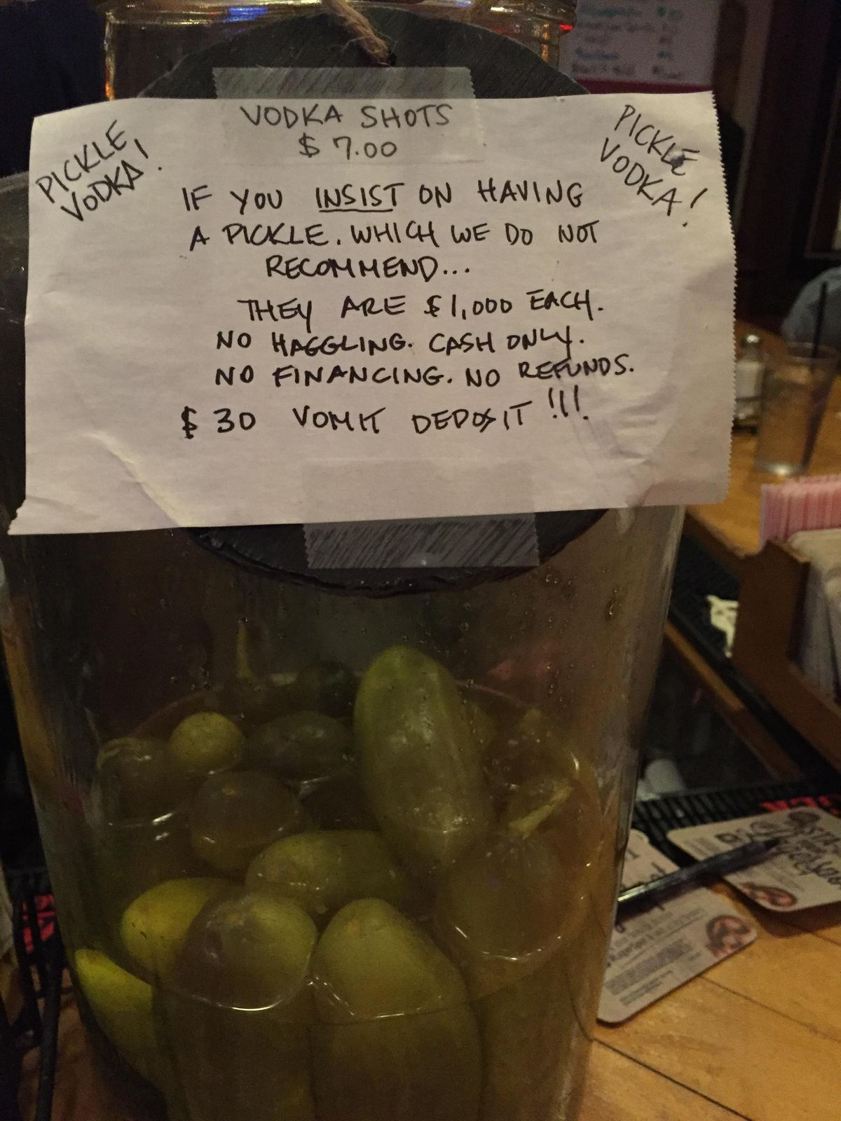 pricey pickle