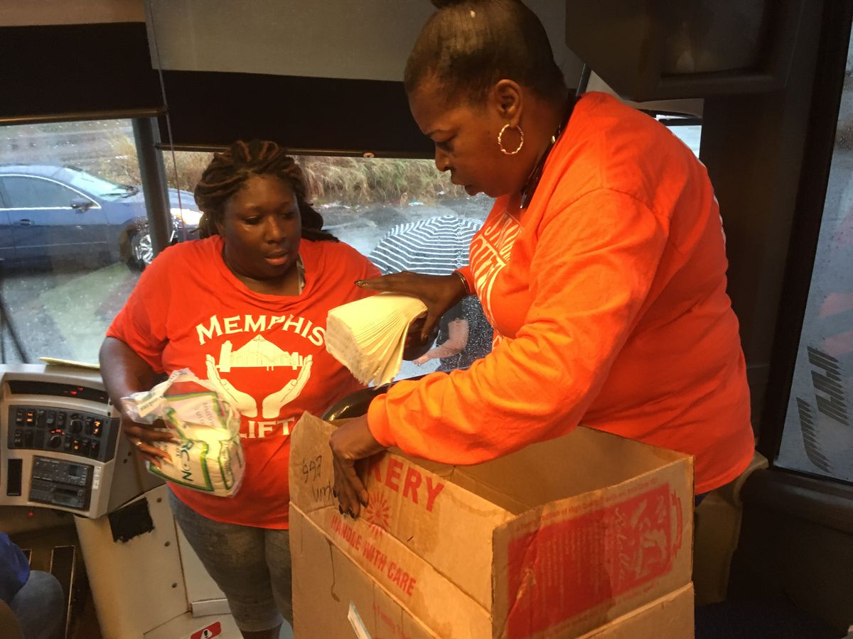 Sarah Carpenter (right), executive director of Memphis Lift, prepares to take 150 parents by bus to Cincinnati, site of the NAACP board's vote this weekend.