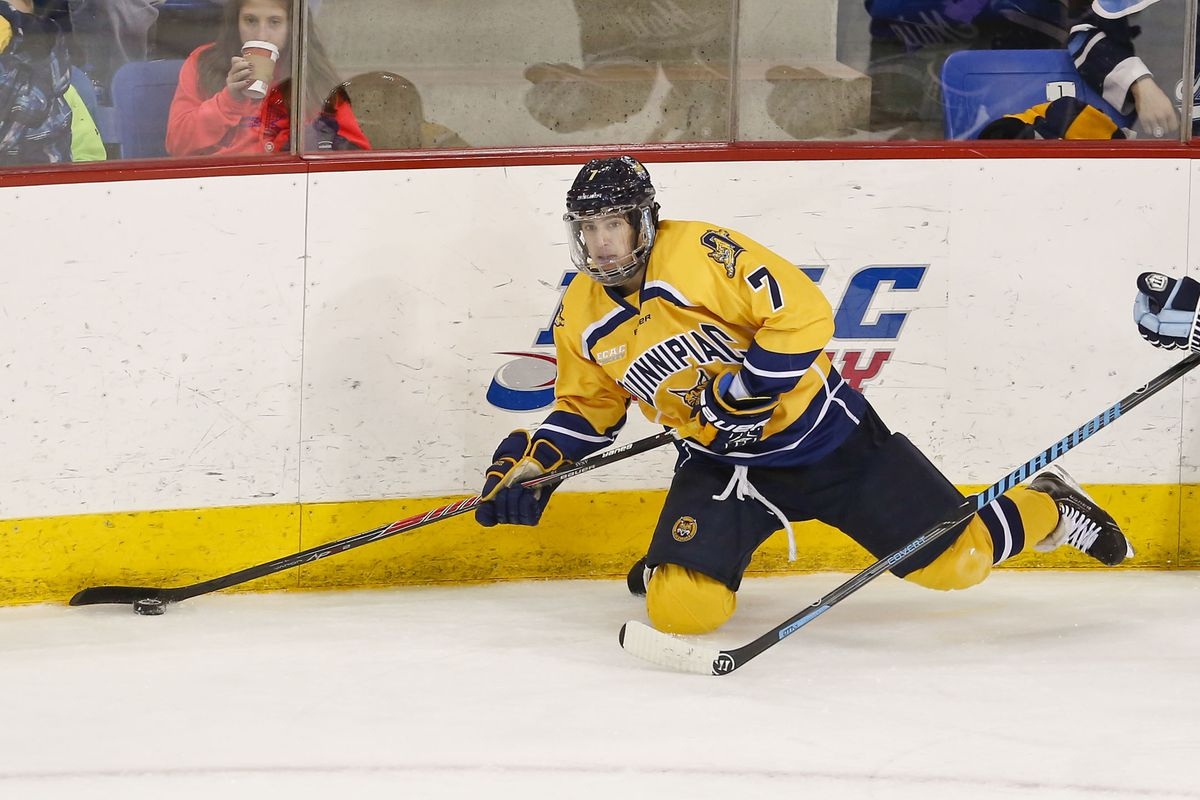 Quinnipiac sophomore forward Sam Anas is a repeat nominee from 2014.