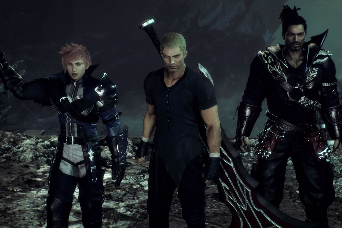 three angry men standing next to each other
