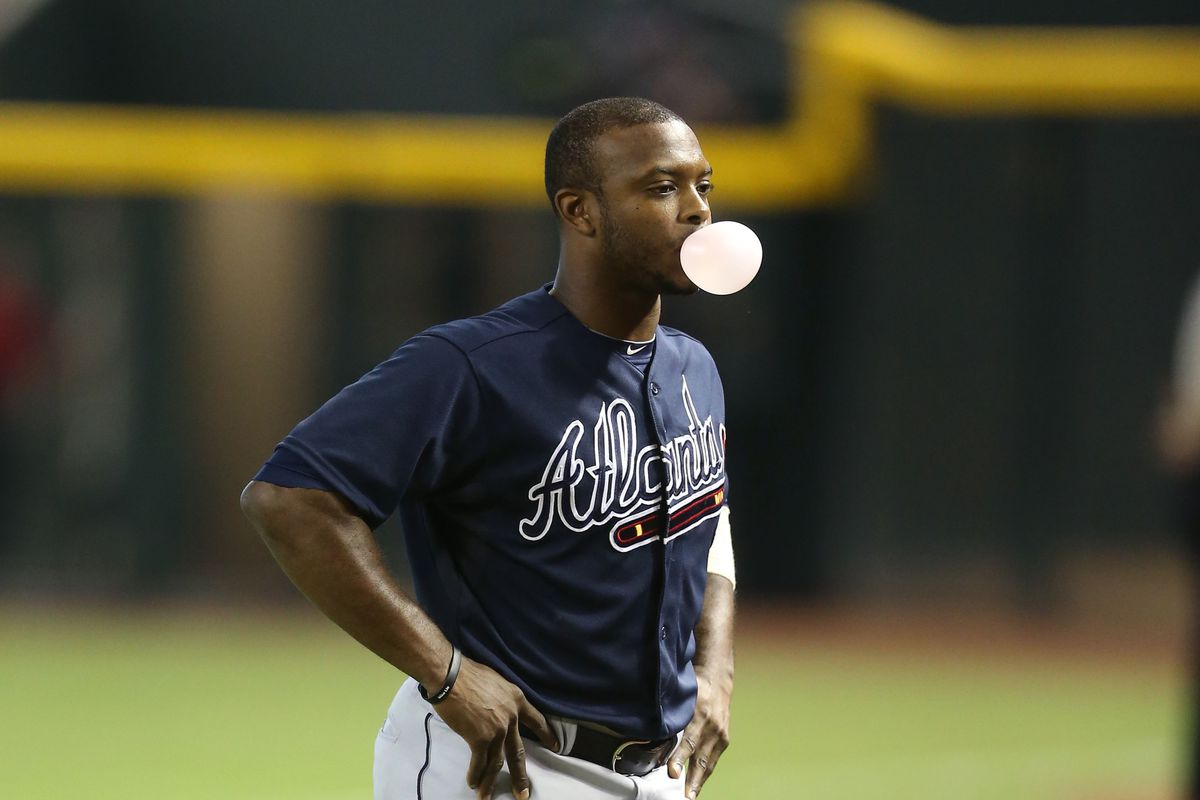 Justin Upton's batting average bubble is about to pop