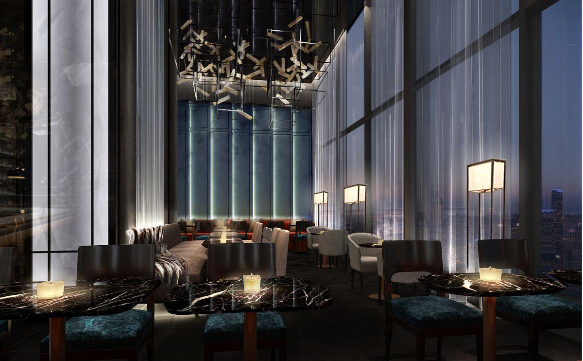 Da Dong's second floor lounge