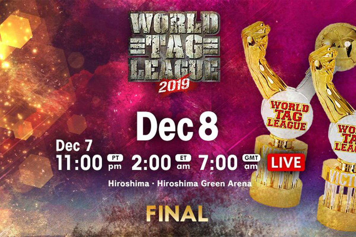 World Tag League 2019 finals graphic