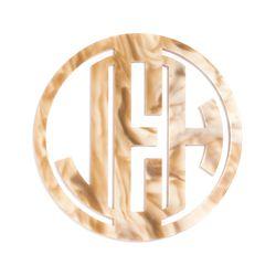 """Block acrylic monogram coaster set, <a href=""""http://www.baublebar.com/block-acrylic-monogram-coaster-set.html"""">$58</a>"""