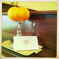 """A <a href=""""http://blog.ryerestaurant.com/post/11491265166/fall-is-here-and-its-warm-and-cozy-in-rye-plus"""" rel=""""nofollow"""">small pumpkin</a> at Rye in Brooklyn."""