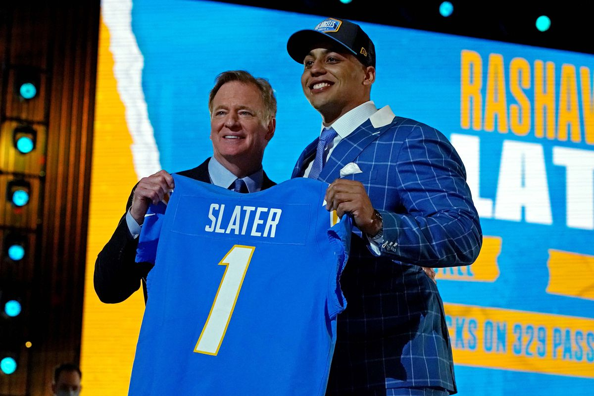NFL draft news 2021: Chargers fans give Rashawn Slater 100 percent 'A'  grade - Bolts From The Blue