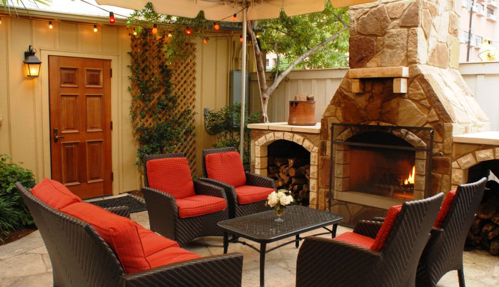 Moonshine Patio Bar & Grill's fireplace