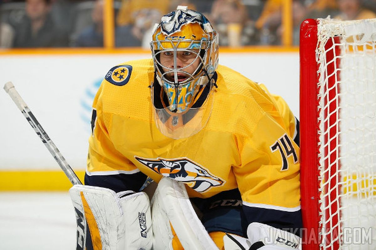 best sneakers 438ea aa5e3 The Future of Nashville's Goaltending: Saros' Next Contract ...