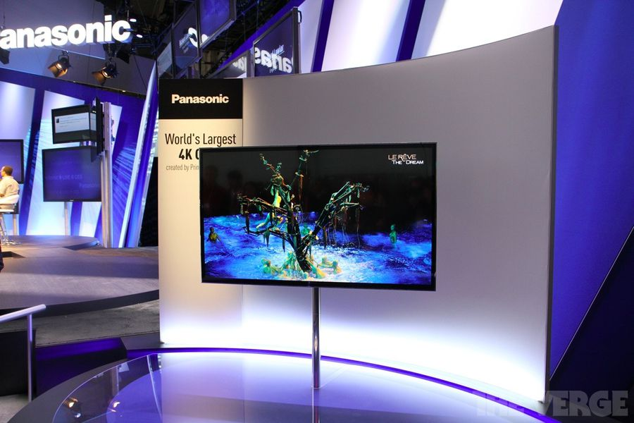 panasonic shows off beautiful 56 inch 4k oled tv at ces hands on the verge. Black Bedroom Furniture Sets. Home Design Ideas