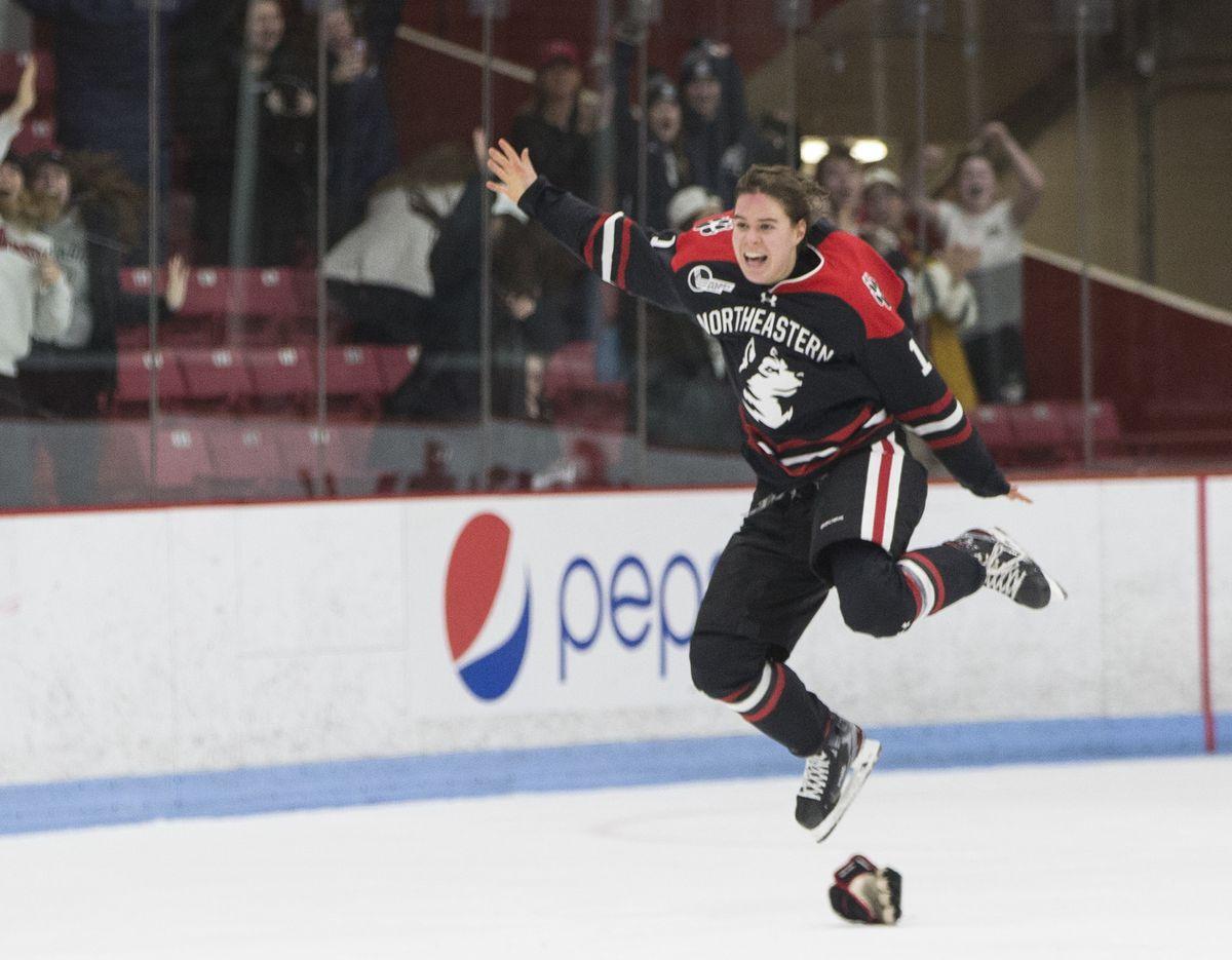 Boston University Terriers Vs. Northeastern University Huskies in Women's Beanpot