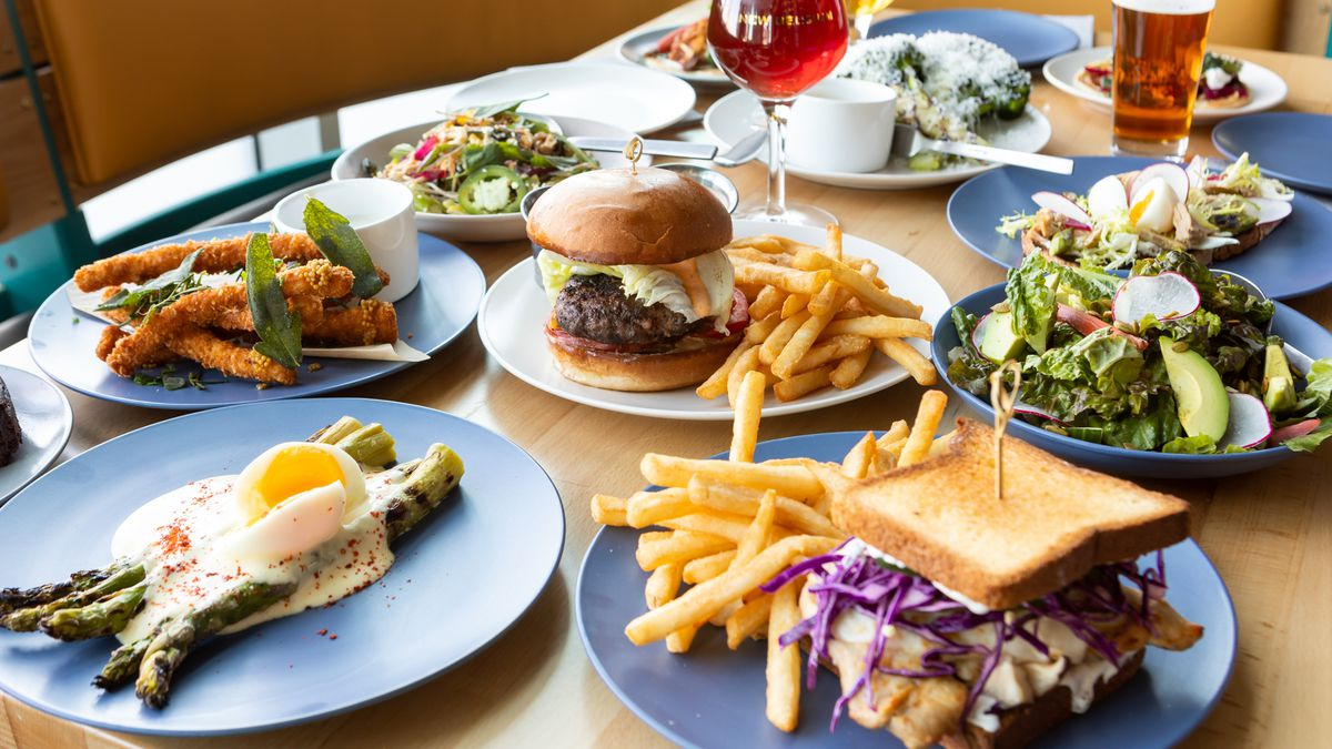 Dishes and beers from New Belgium Brewery