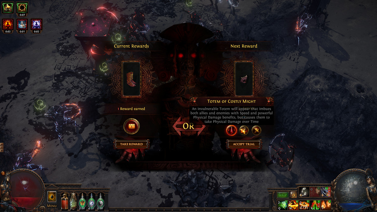 Path of Exile 2 Ultimatum reward options
