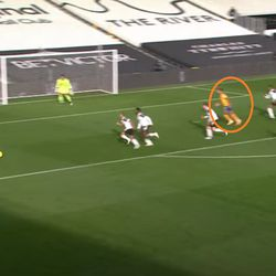 Digne wide open down the left