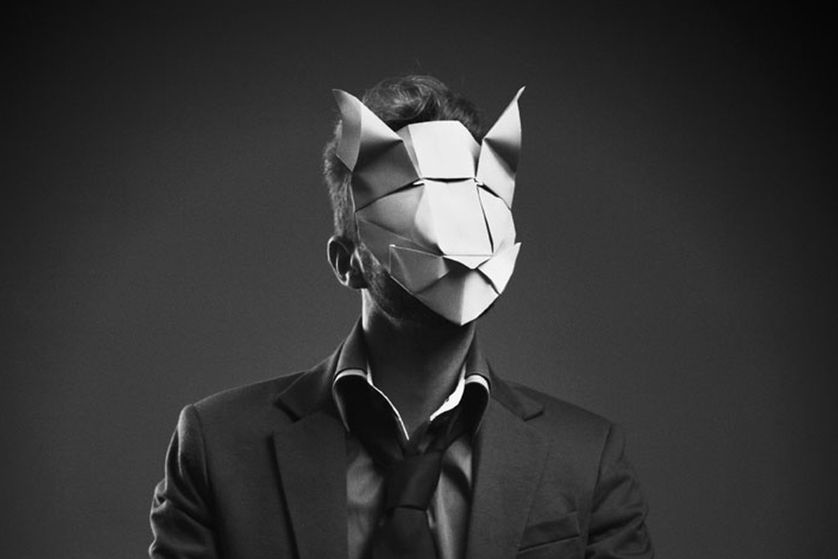Origami Turns Creepy In Artists Paper Mask Portraits