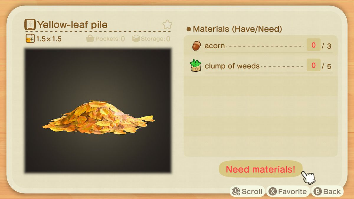 Acorn And Pine Cone Recipe List For Animal Crossing New Horizons Switch Polygon