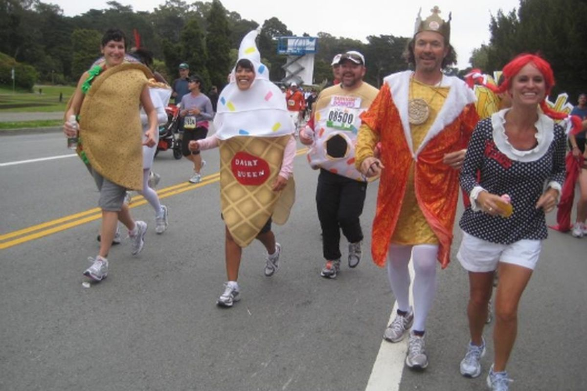 Taco Bell, Dairy Queen and other fast food at Bay to Breakers.