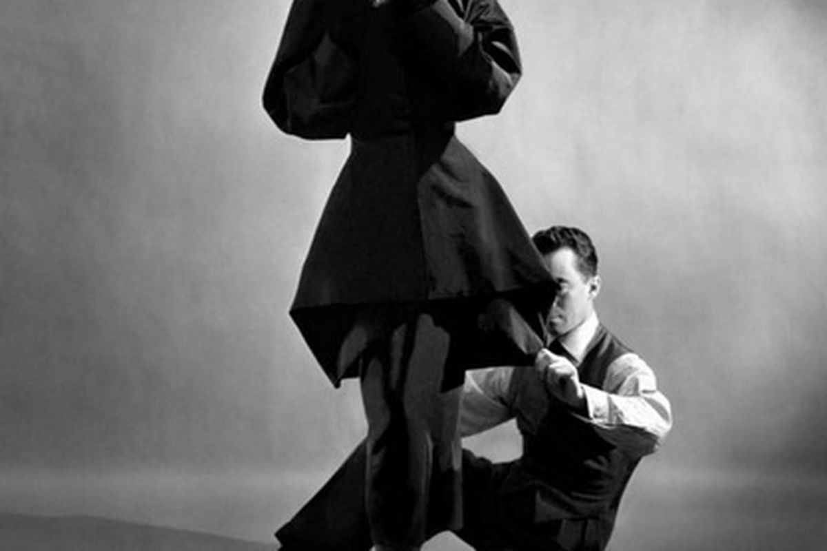 James with a model, 1948, photographed by Cecil Beaton