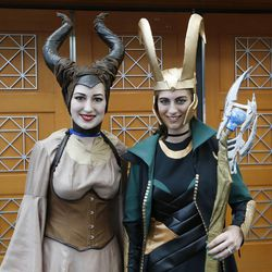 Amy Niedens and Tera Goolsby attend Comic Con during the convention at the Salt Palace in Salt Lake City Friday, Sept. 5, 2014.